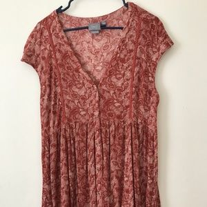 Anthropologie Floral MiniDress/Top